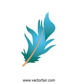 blue feather messy decoration icon