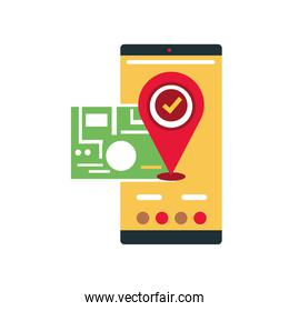 online delivery service smartphone pin location