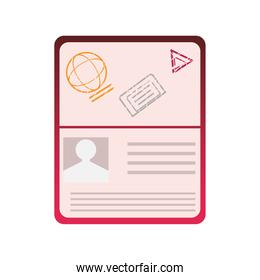 passport document for travel and immigration icon image white background