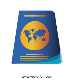 passport id document for travel icon image white background