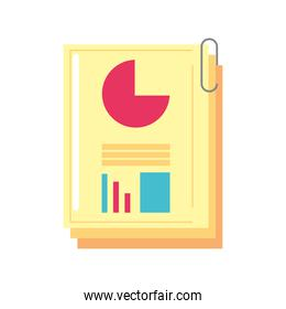business report financial chart information and presentation
