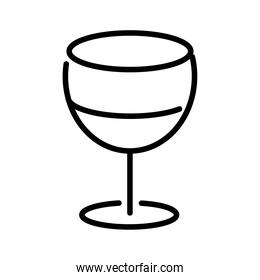 wine cup drink line style icon