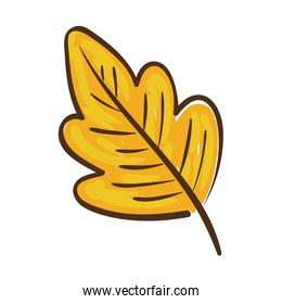 autumn leaf plant hand draw style icon