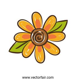 sunflower plant hand draw style icon