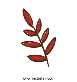 branch with leafs hand draw style icon