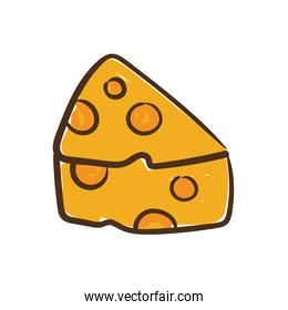 delicious cheese hand draw style icon