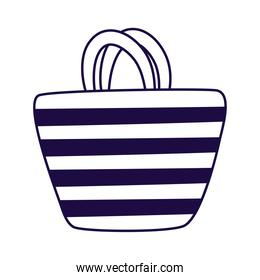 summer female bag line style icon