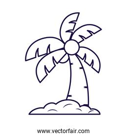 tropical tree palm line style icon