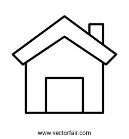 house front facade line style icon