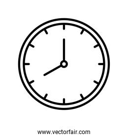time watch clock line style icon