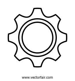 gear setting line style icon