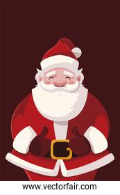 merry christmas santa claus character celebration