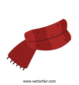 red scarf winter knitted accessory icon design
