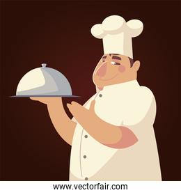 funny chef character worker professional restaurant
