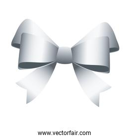 happy merry christmas silver bow ribbon icon
