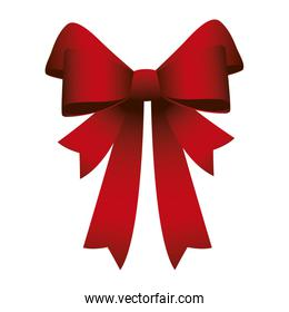 happy merry christmas red ribbon icon