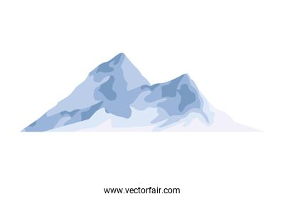 snowly mountains scene isolated icon