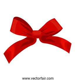 happy merry christmas bow ribbon red color