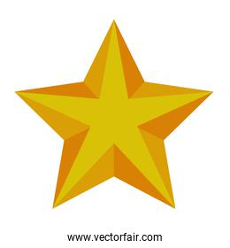 happy merry christmas golden star with five pointed icon