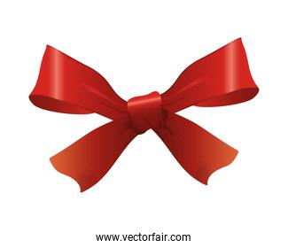happy merry christmas shine red bow ribbon icon