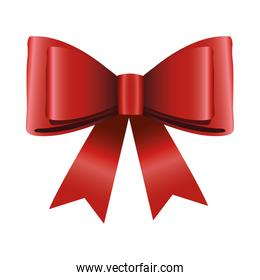 happy merry christmas satin bow red ribbon icon
