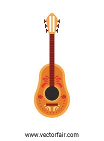 guitar painted instrument musical icon