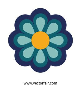 beautiful flower blue decoration garden icon
