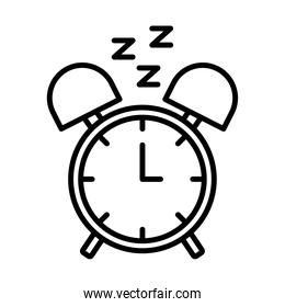 alarm clock with Insomnia z letters line style icon