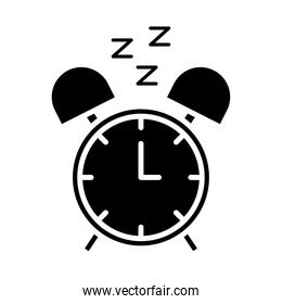 alarm clock with Insomnia z letters silhouette style design