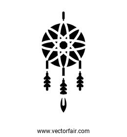 dreams catcher hanging silhouette style icon