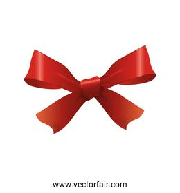 happy merry christmas red bow ribbon icon