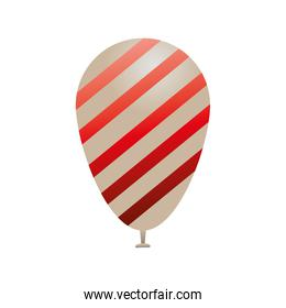 balloon helium with red and white striped