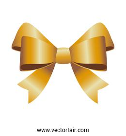 happy merry christmas golden bow ribbon icon