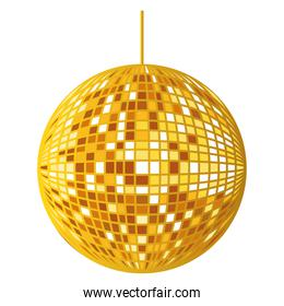 golden mirrors sphere disco hanging