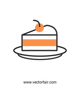 cake portion fill style icon