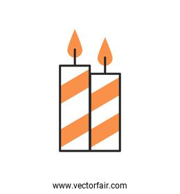 candles fire decoration fill style icon