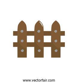 wooden fence icon, colorful design