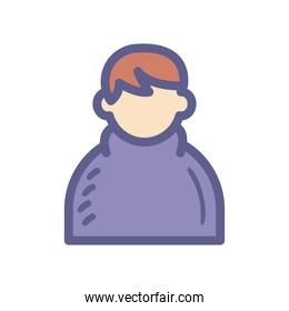 man avatar icon vector design