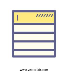 document paper with lines vector design