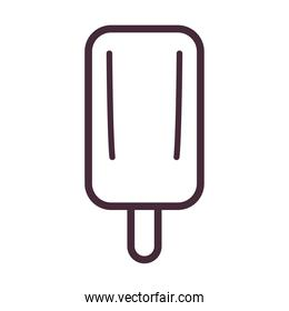 ice cream with stick line style icon vector design