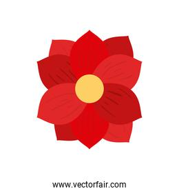 chinese red flower vector design