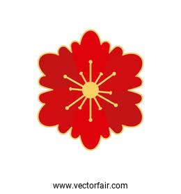 chinese red and gold flower vector design