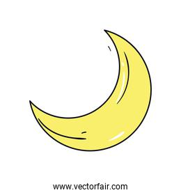 moon icon isolated vector design