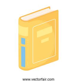 book stand cover pages encyclopedia icon white background