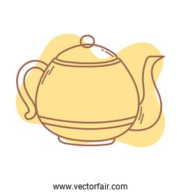 coffee kettle kitchen traditional icon line and fill