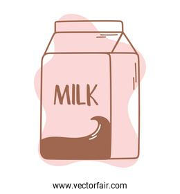milk box liter container icon line and fill