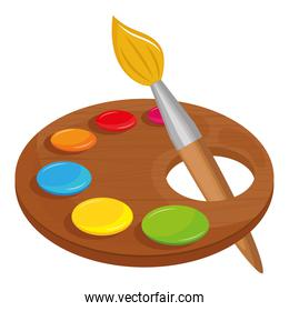 paint palette school supply icon