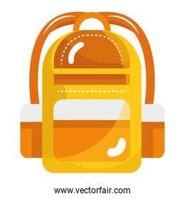 school bag equipment isolated style icon
