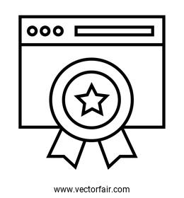webpage template with medal line style