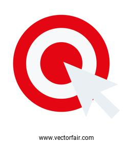 target with mouse cursor arrow flat style icon